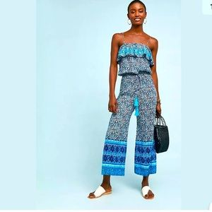 NEW Anthropologie RAGA Frill Top Jumpsuit Size M.